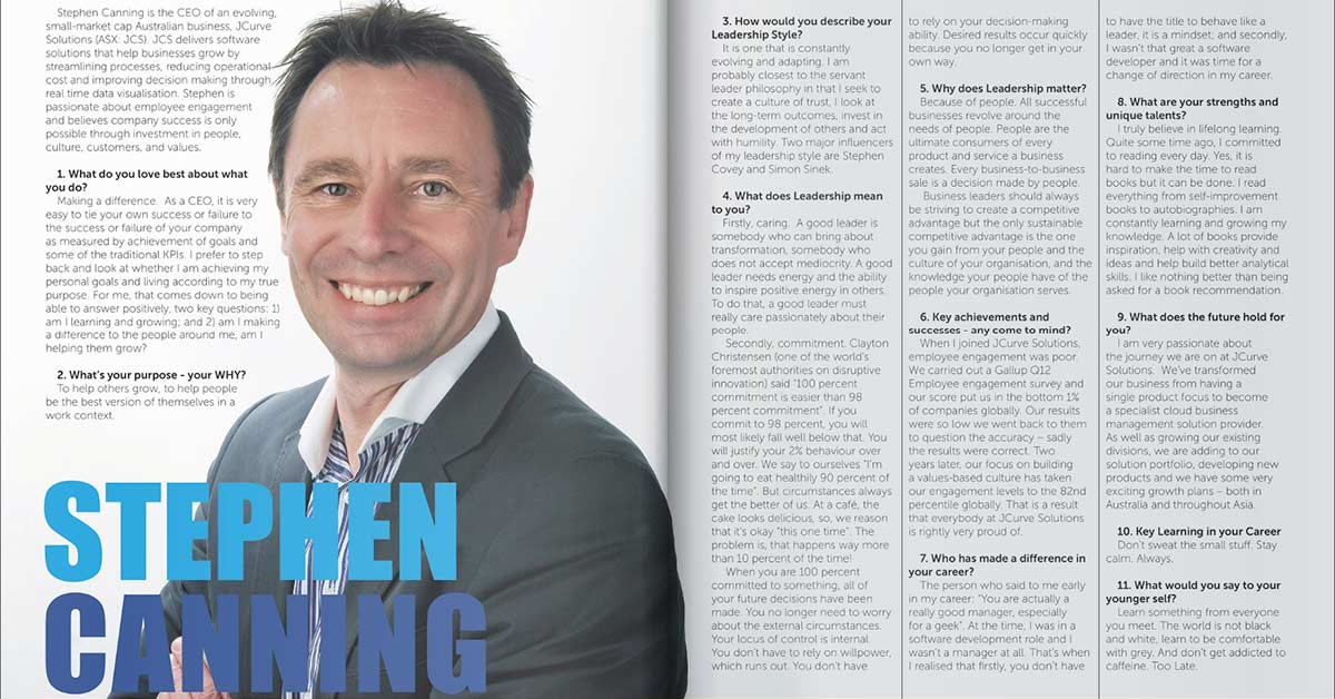 Stephen Canning Featured in LeadershipHQ Magazine