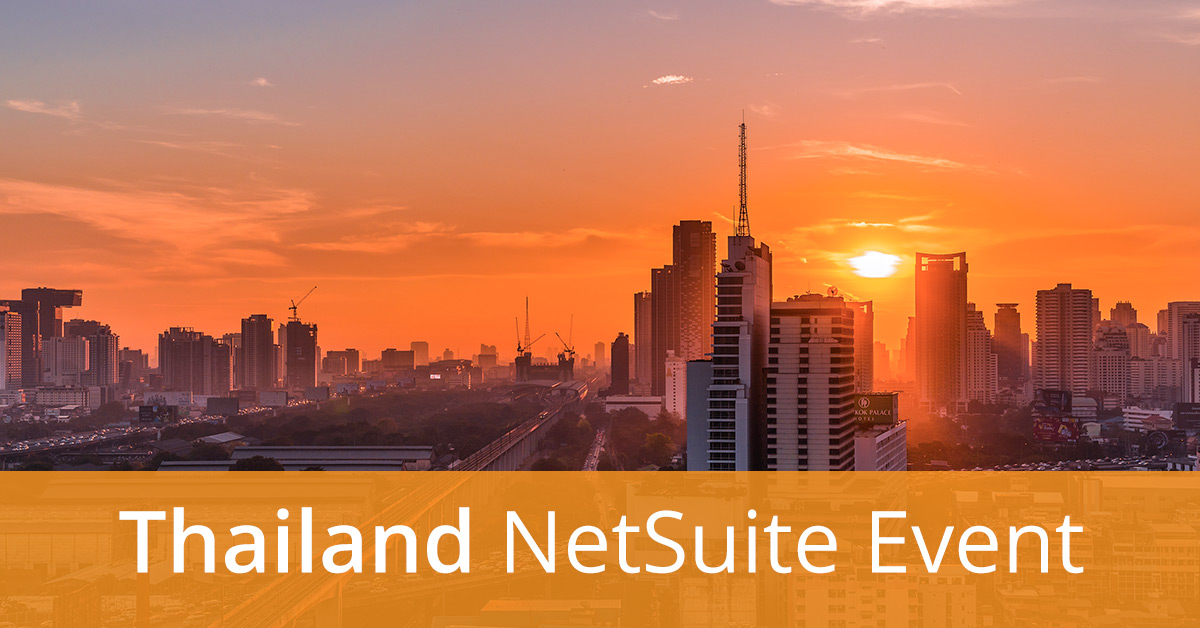 Thailand Event: Transform the Way Your Non-Profit Organisation Works with NetSuite