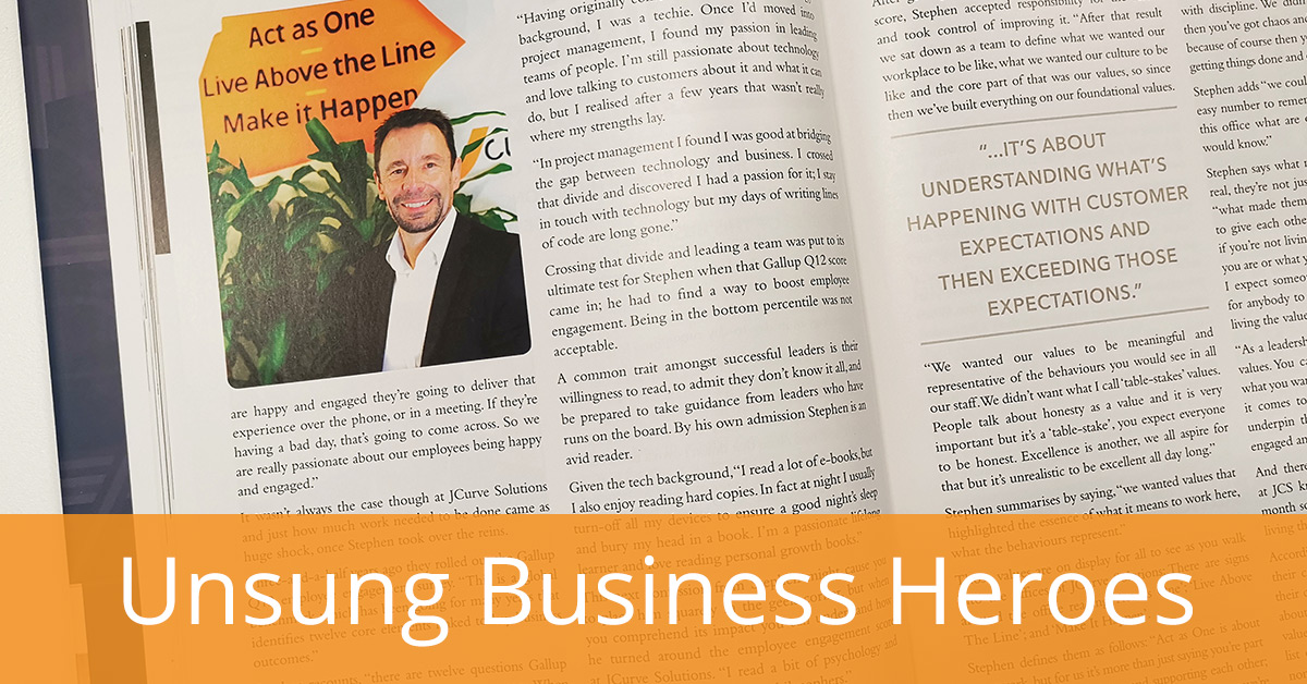 JCS CEO, Stephen Canning, Featured in Unsung Business Heroes