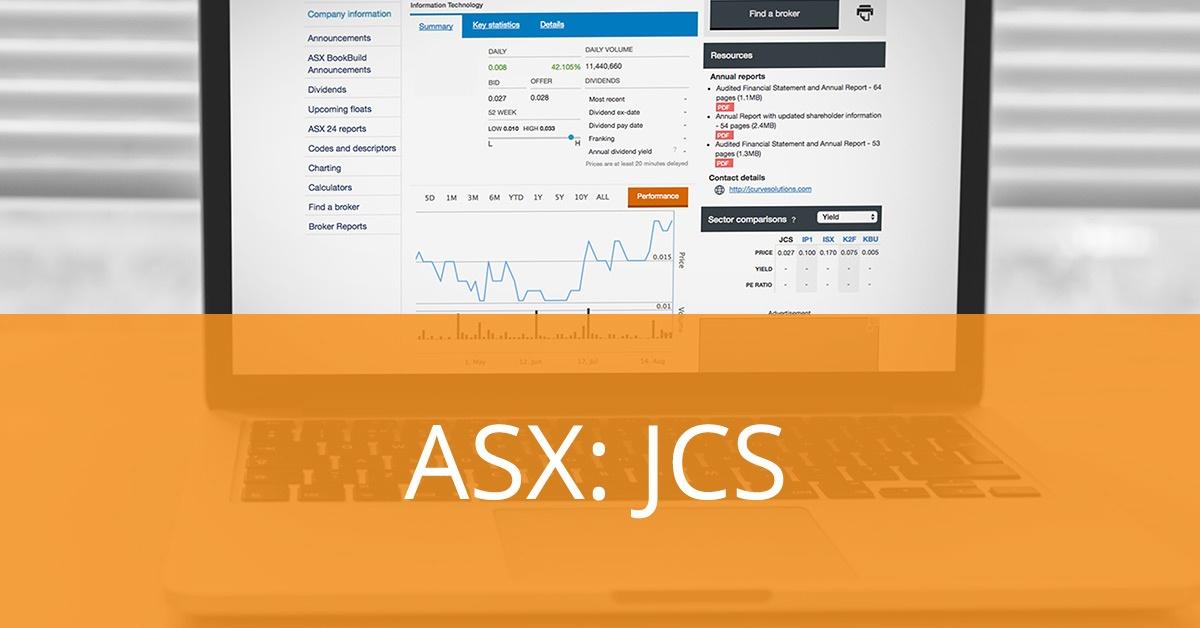 ASX Announcement- JCurve Solutions Investor Presentation
